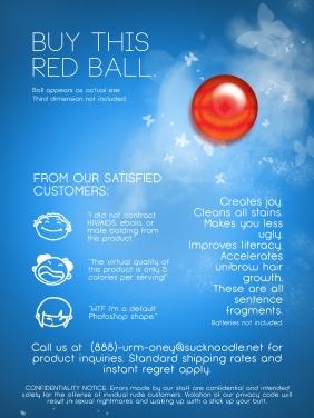ball advertisement